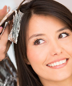 beauty salon in thrissur. Hair colouring