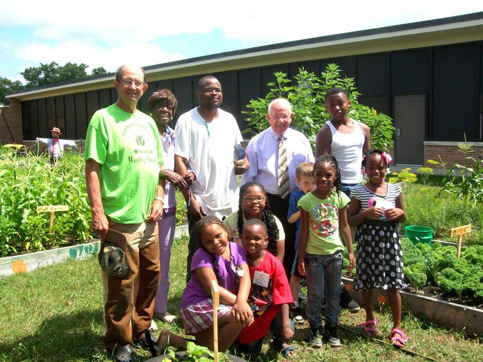 county commissioner in mlk garden