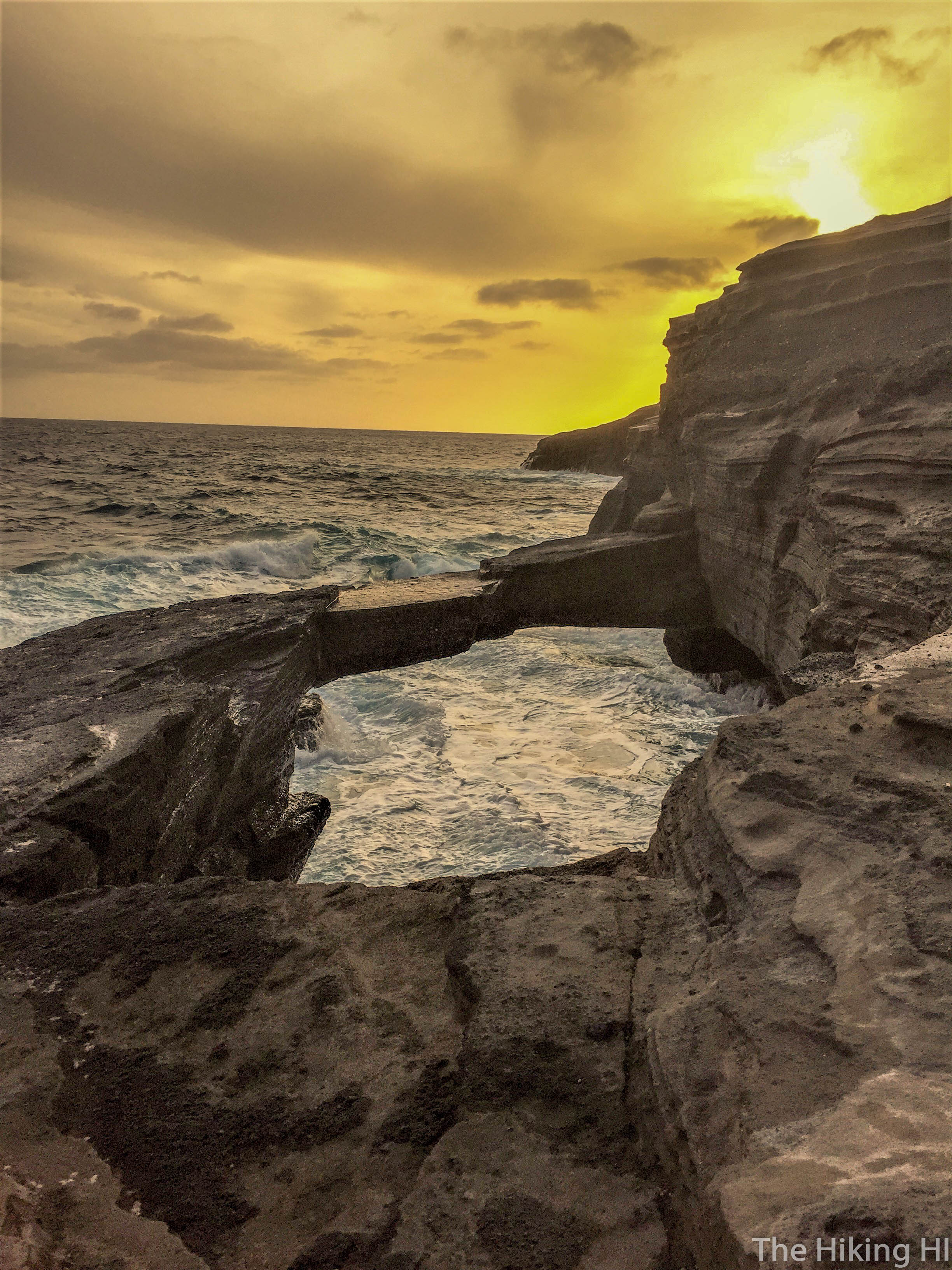 Sunset Over Sea Cliff