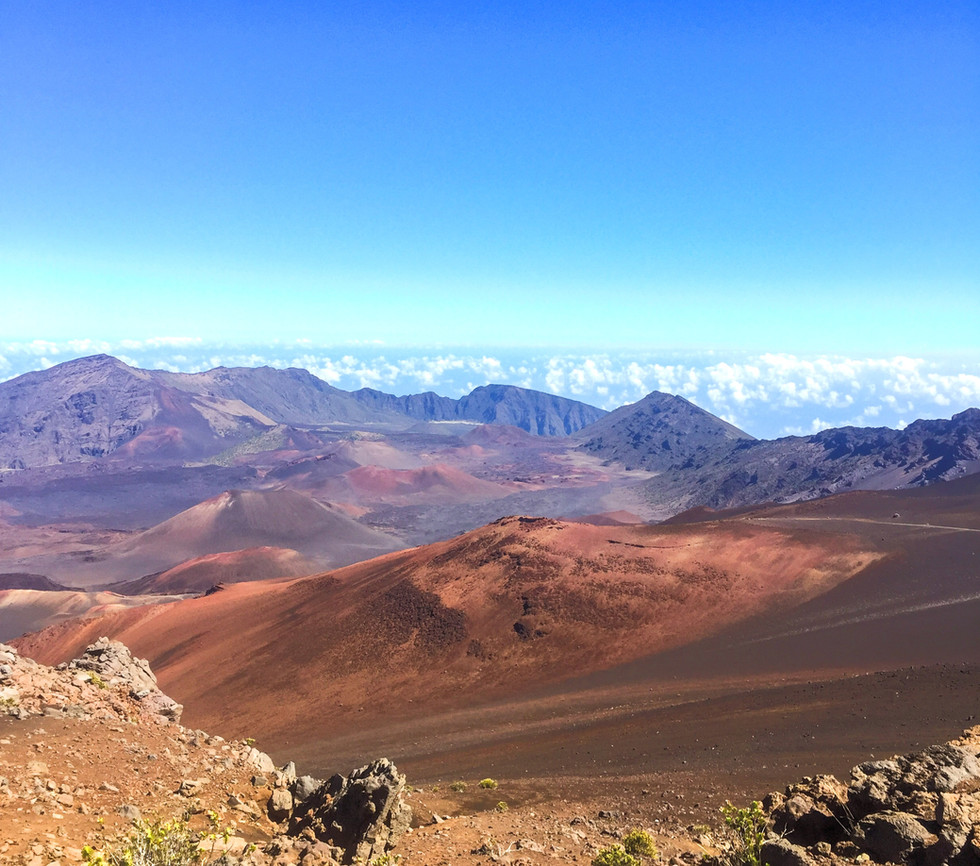 HALEAKALA CRATER and THE SLIDING SANDS TRAIL--MAUI