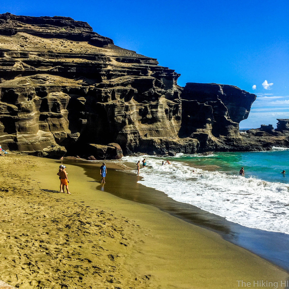 Papakolea Green Sand Beach and Cliff Jumping at South Point -- The Big Island