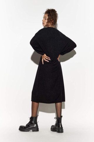 Oversized Sweater Dress Black