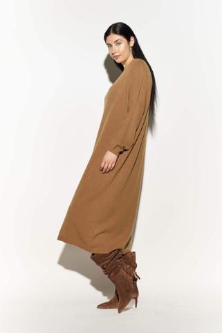 Oversized Sweater Dress Camel