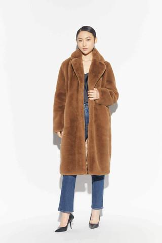 Faux Camel Coat