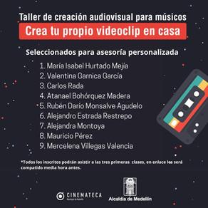 Seleccionados - Taller de creación audiovisual para músicos en casa