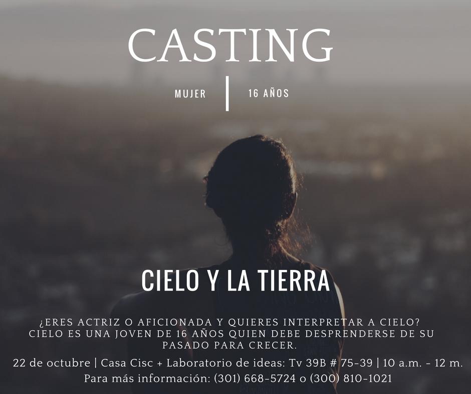 Casting cortometraje Cielo y la Tierra