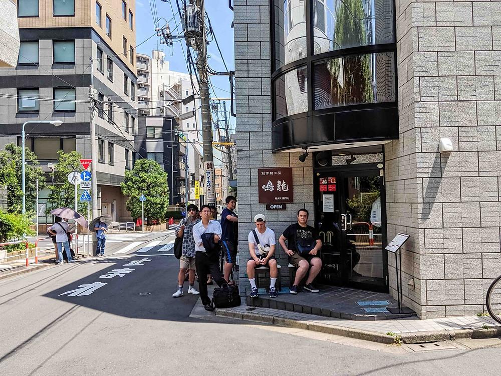 Michelin Star Ramen at Nakiryu - Outside