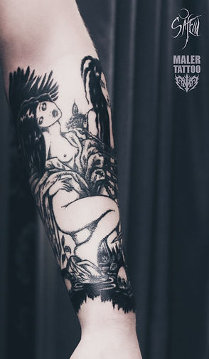 #anastasiasalem #tattoosalem #malertattoo #tattoo #тату #татуировка #татуекб #татуекатеринбург #татуировкаекатеринбург #graphictattoo #blackwork #blackart #darkart #linework #surrealismtattoo #tattoosurreal #witchtattoo #geishatattoo #geisha #japantattoo #tattooartist #tattoomaster #татумастерица