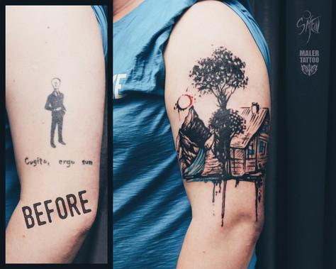 """""""Маленькая мечта"""" или перекрытие старой татуировки"""