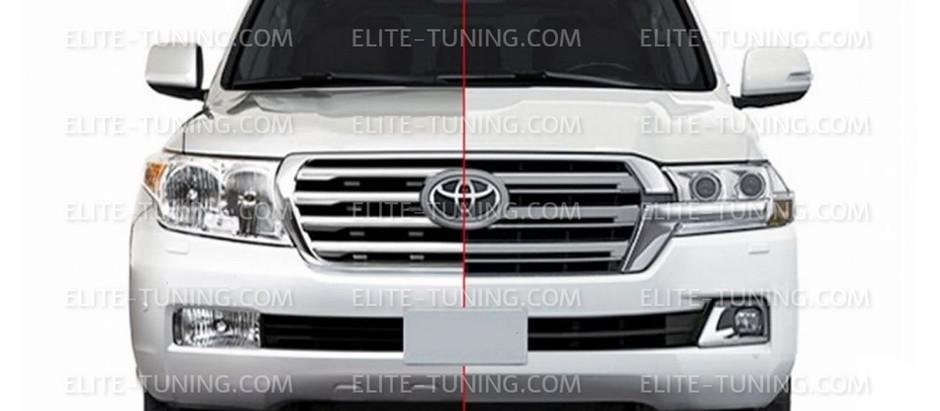 Новогодняя цена на обвес рестайлинга Toyota Land Cruiser 200 в 2016 год.
