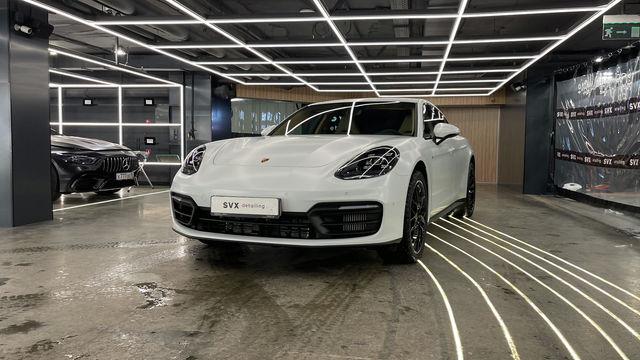 Белый матовый Porsche Panamera