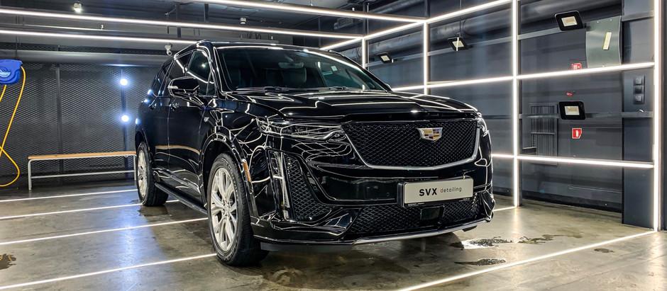 Зашита Cadillac XT6 кварцевыми составами GYEON