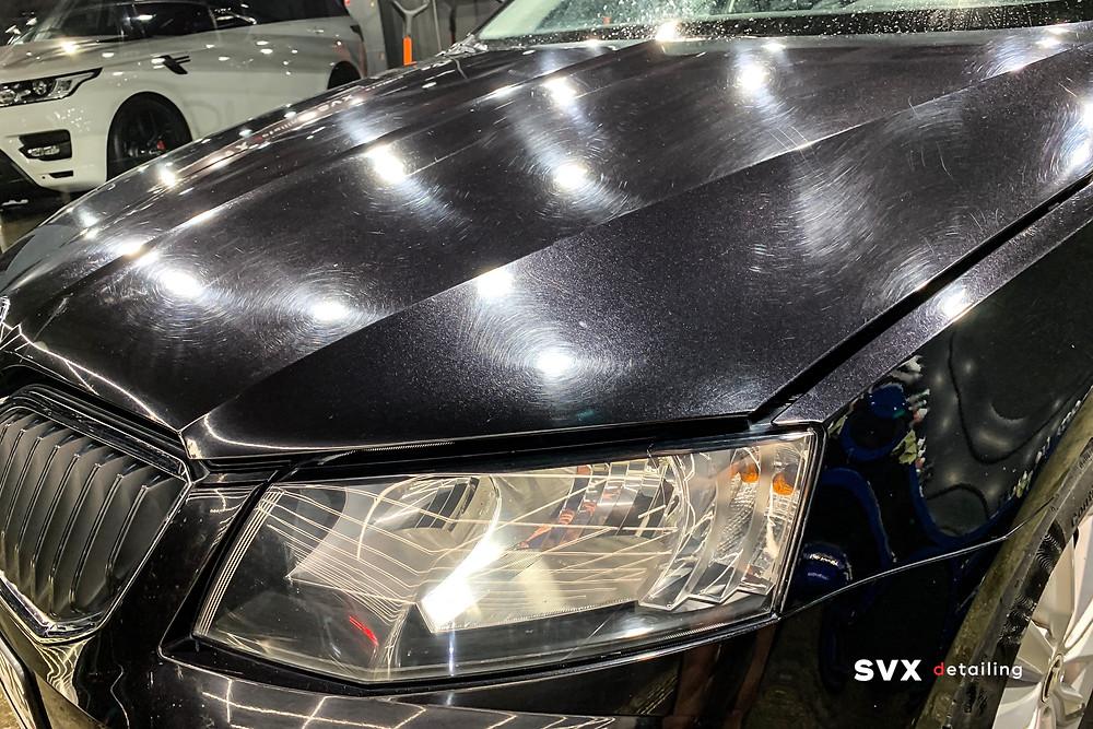 Skoda Octavia перед восстановительной полировкой кузова