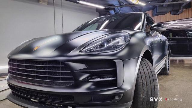 Porsche Macan: оклейка кузова матовой плёнкой