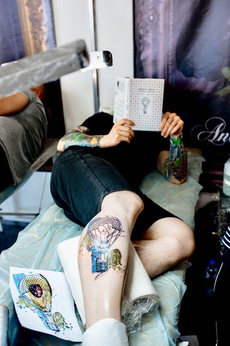 Эскиз второго дня Ural Tattoo Convention 2018