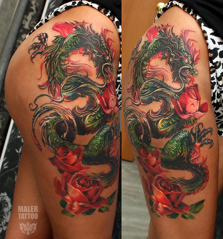 Татуировка китайский дракон в екатеринбурге