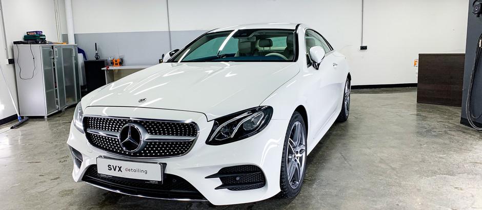 Защита антигравийной пленкой Mercedes E Coupe 🔥