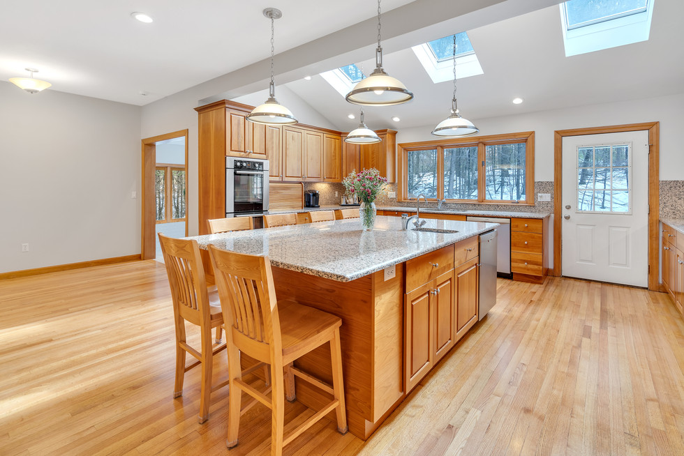 Gorgeous kitchen custom build in real estate photograph by Allard Media Group