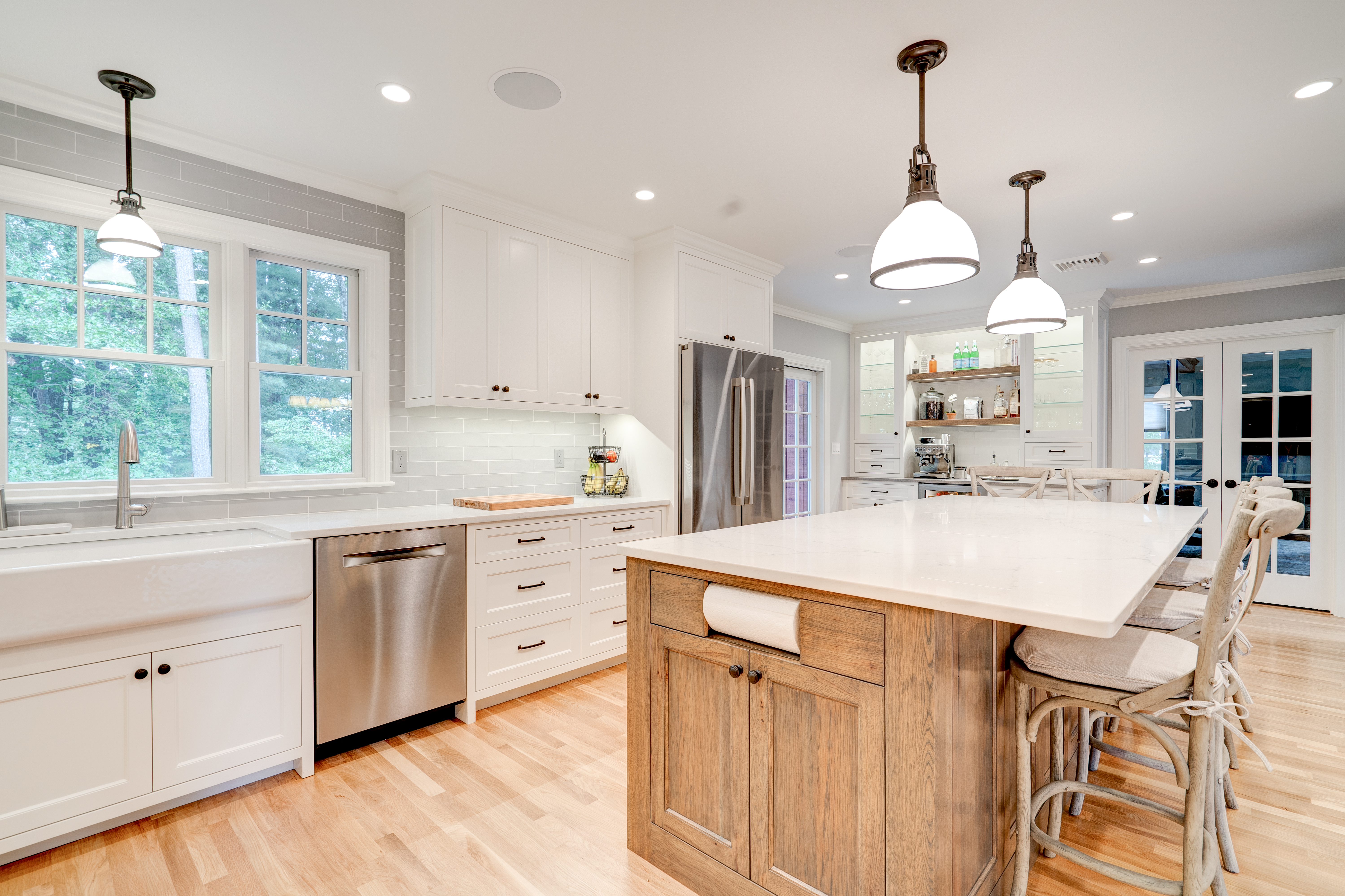 Beautiful full custom kitchen real estate photography