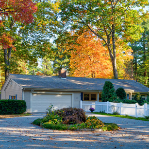 Beautiful fall leaves and white picket fence photography Allard Media Group