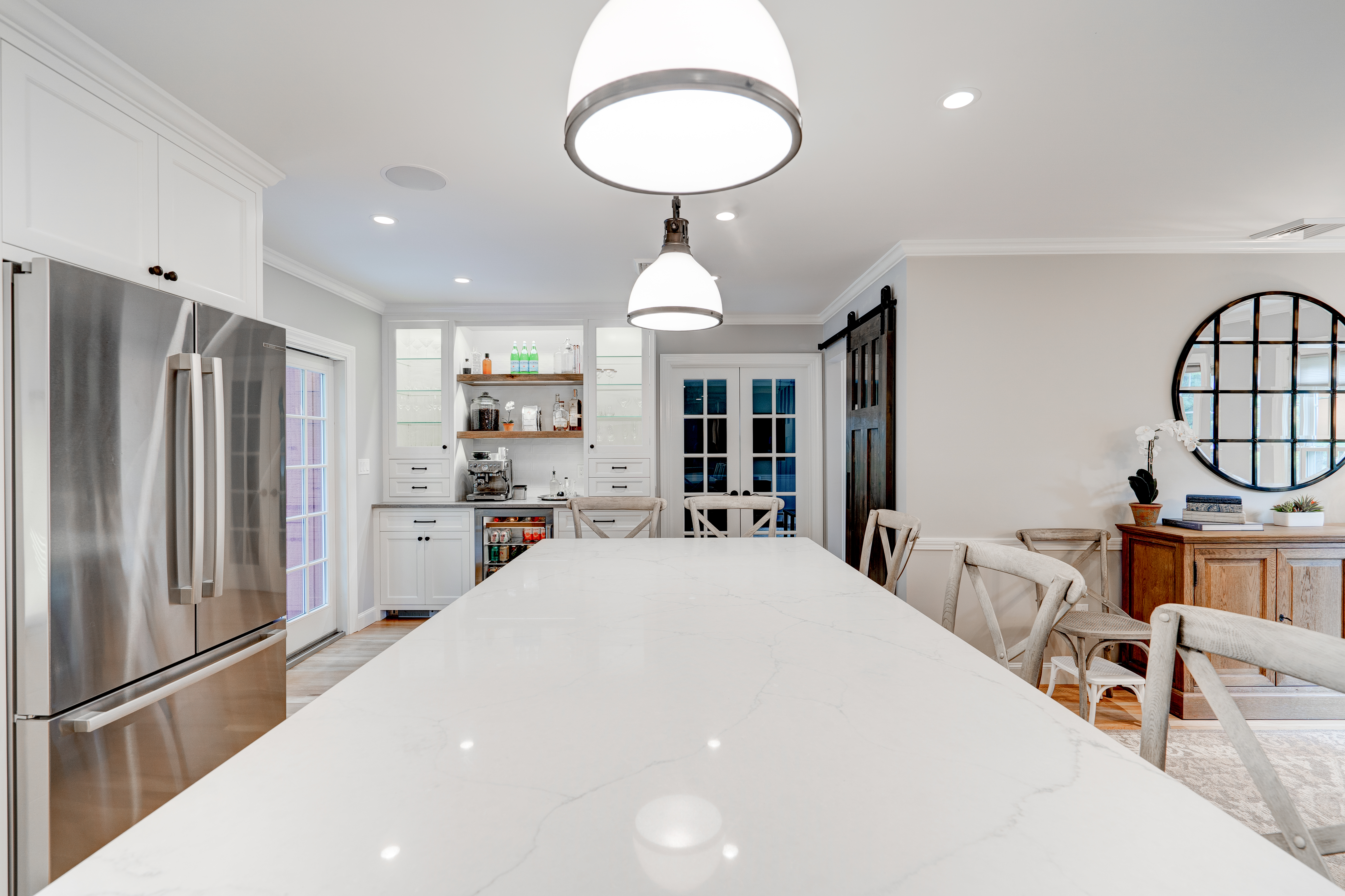 Spacious custom kitchen real estate photography