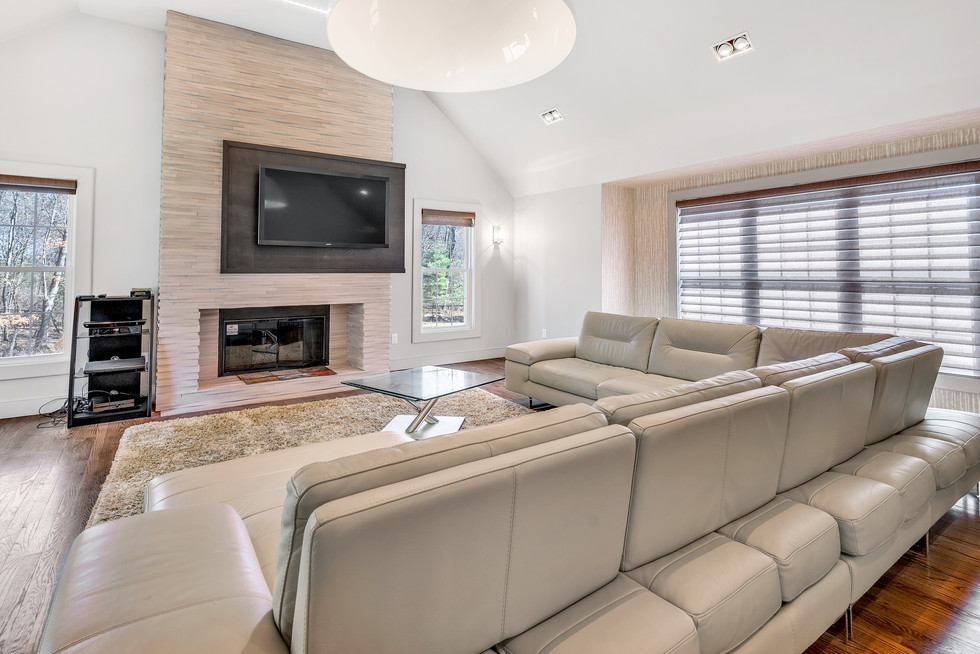 Beautiful spacious custom build family room in real estate photograph by Allard Media Group