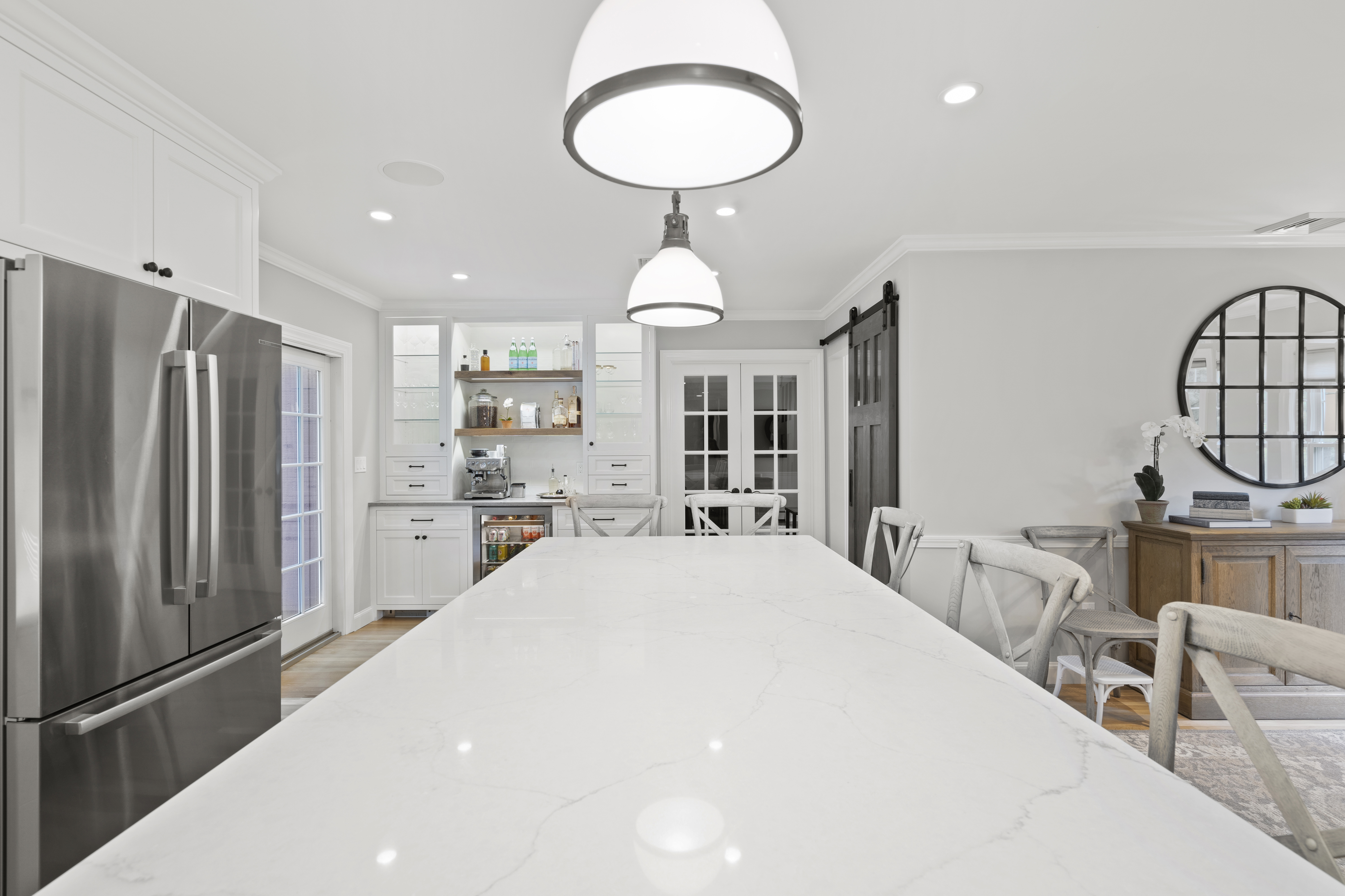 Beautiful custom kitchen high-end editing real estate photography