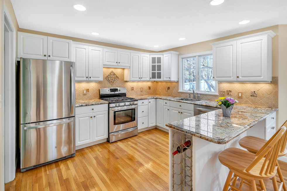 Beautiful kitchen custom build in real estate photograph by Allard Media Group