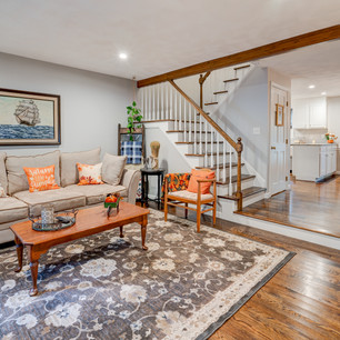 Beautiful living room in home real estate photography shot by real estate photographer Allard Media Group