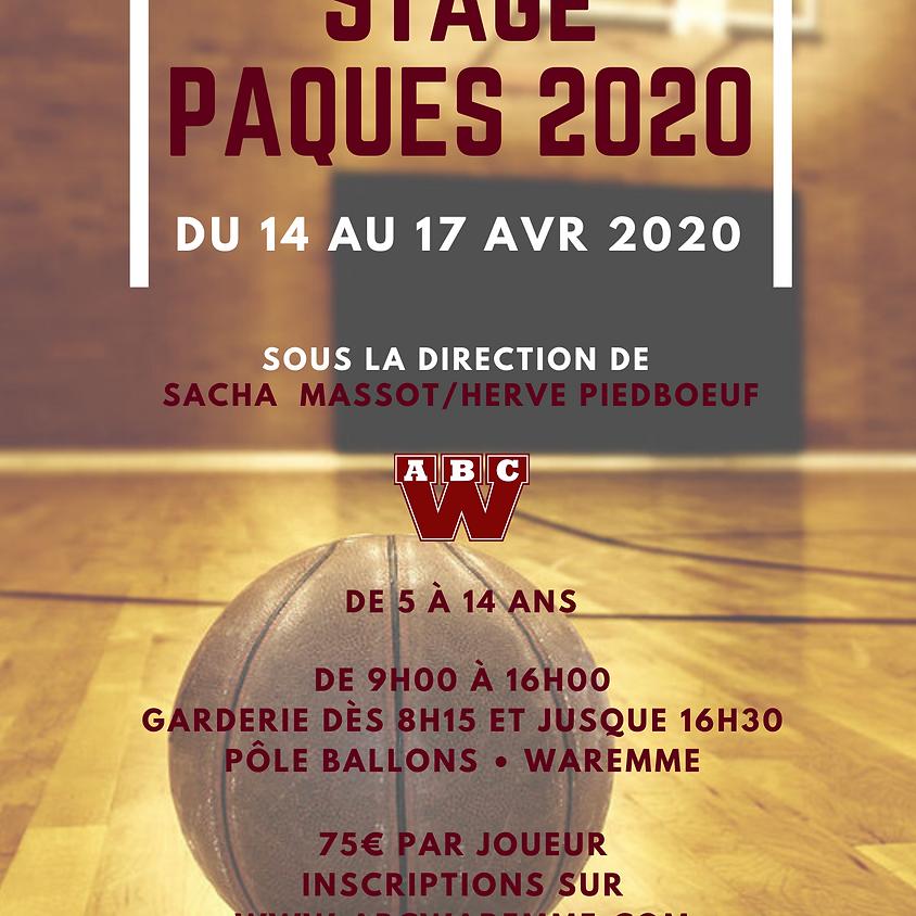 Stage de Pâques 2020