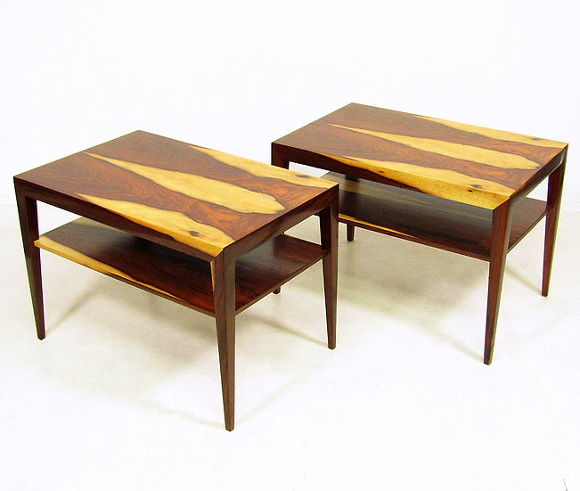 Pair Of Rosewood Lamp Tables By Severin Hansen For Haslev