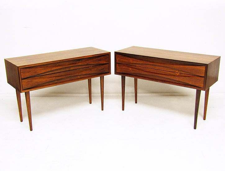 Niels Clausen Rosewood Cabinet Nightstands Danish 1960s Side Tables Vodder 1960s