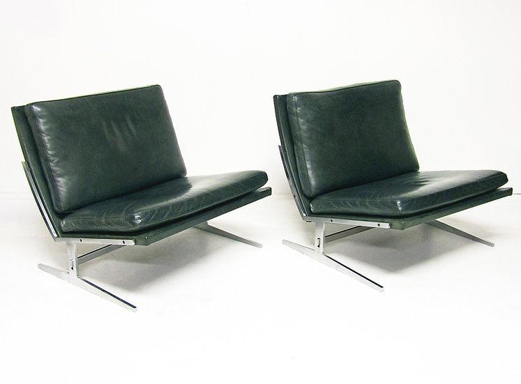 Preben Fabricius Jorgen Kastholm BO561 Architectural Chairs Turquoise  1960s Bo-Ex Danish MCM