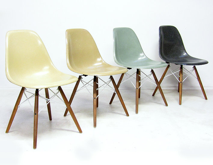 "Four 1950s ""DSW"" Shell Chairs by Charles Eames for Herman Miller"
