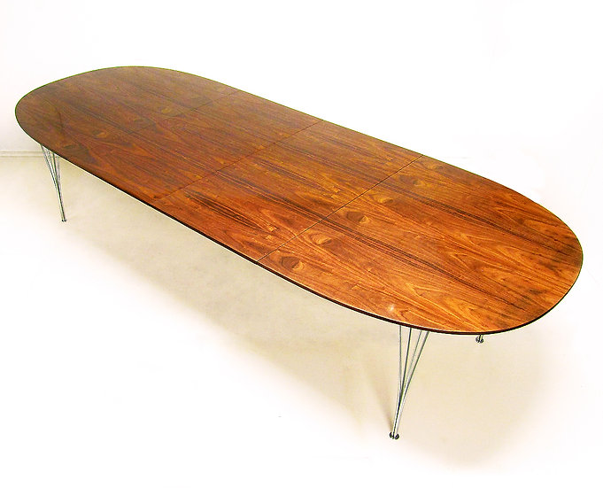 Piet Hein Rosewood Super Ellipse Elliptical Dining Table Extending Fritz Hansen Danish Midcentury Modern