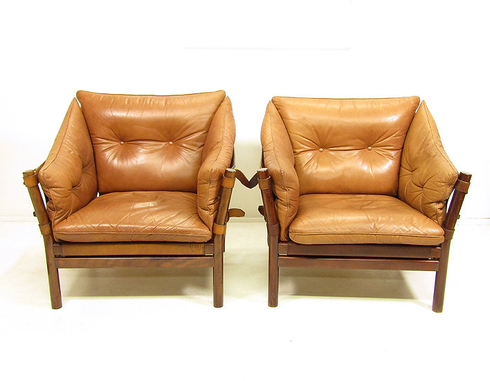 "Two 1960s ""Ilona"" Chairs by Arne Norell"