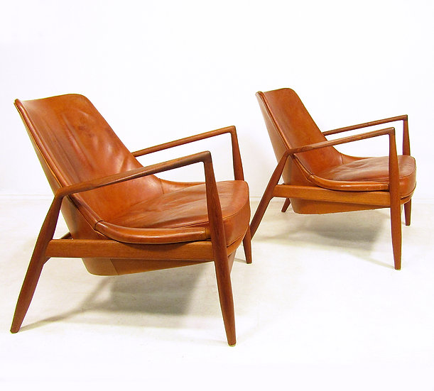 "Two 1960s ""Seal"" Chairs by Ib Kofod Larsen"