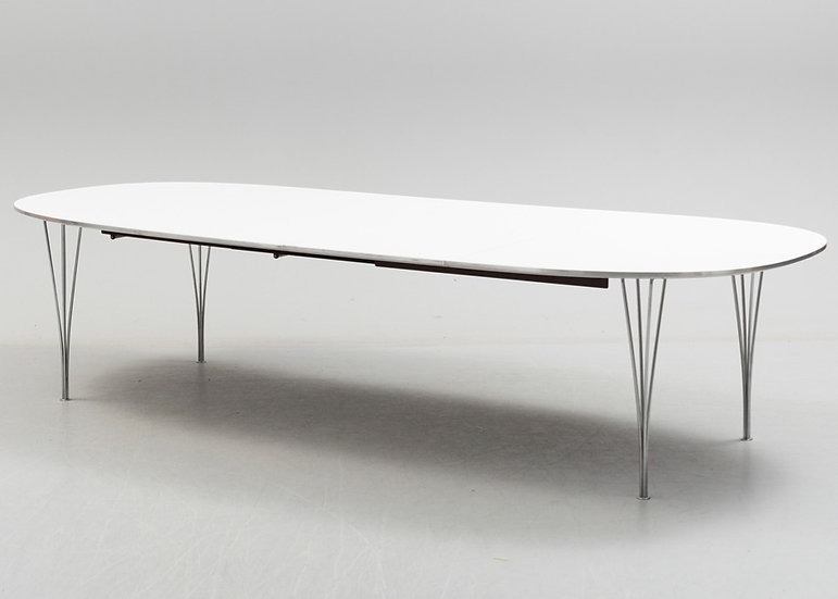 Extending Super Ellipse Table By Piet Hein For Fritz Hansen