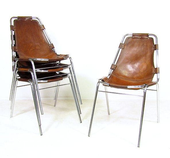 "Charlotte Perriand ""Les Arcs"" Chairs By Cassina"