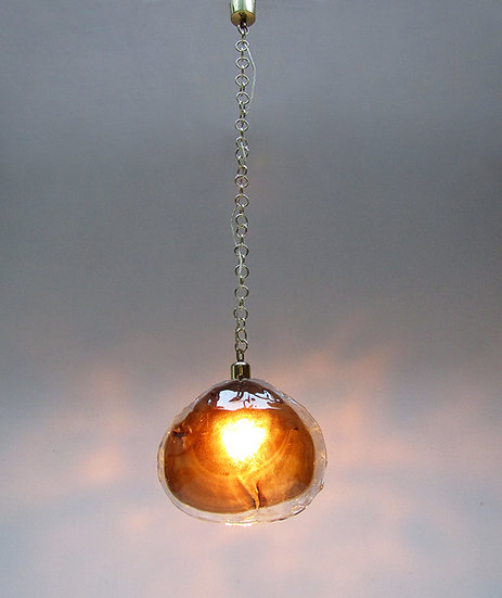 Amber Petal Pendant Light in Murano Glass by Kaiser Leuchten