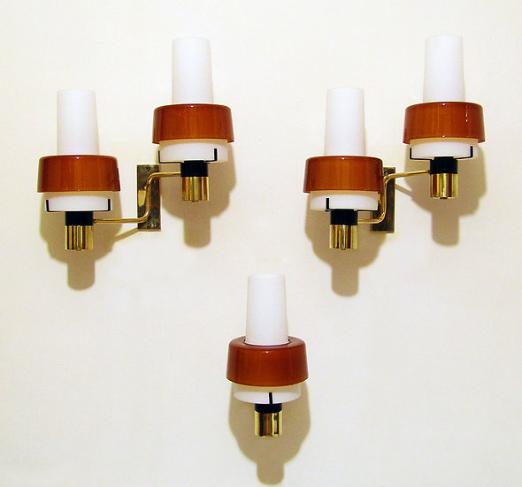 Three 1960s Sconces by Stilnovo