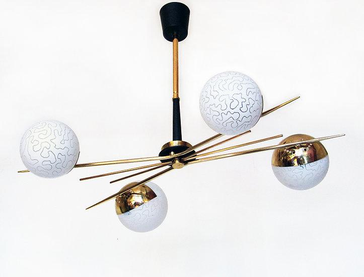 Maison Arlus Sputnik Starburst Ceiling Light