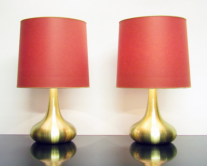 "Two Large Danish ""Orient"" Table Lamps By Jo Hammerborg"
