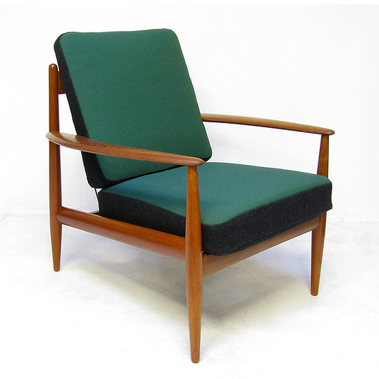 1950s Danish Lounge Chair in Teak & Kvadrat by Grete Jalk