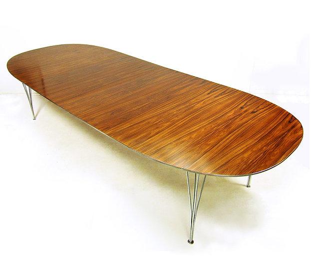Rosewood Super Ellipse Table By Piet Hein For Fritz Hansen