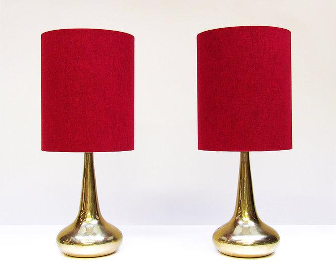 Two Rare Gold Orient Table Lamps Jo Hammerborg Fog Morup Danish