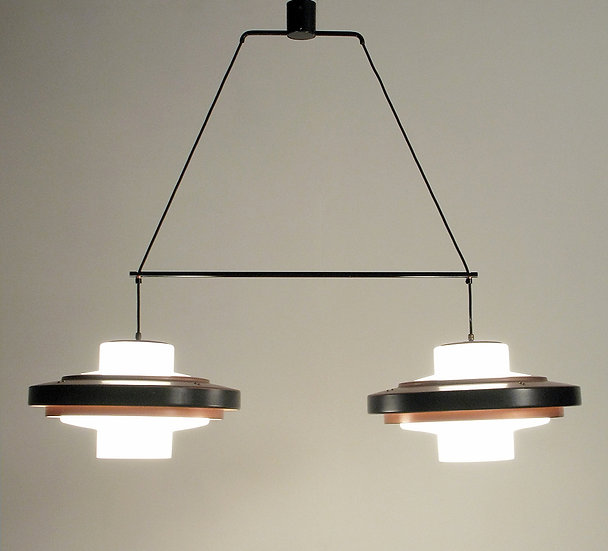 1950s Space-Age Twin Ceiling Fixture by Stilnovo