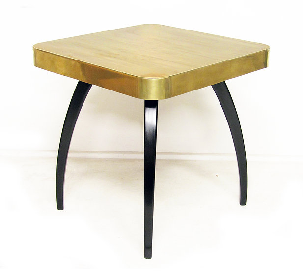 "Brass Art Deco ""Spider"" Side Table By Jindrich Halabala"