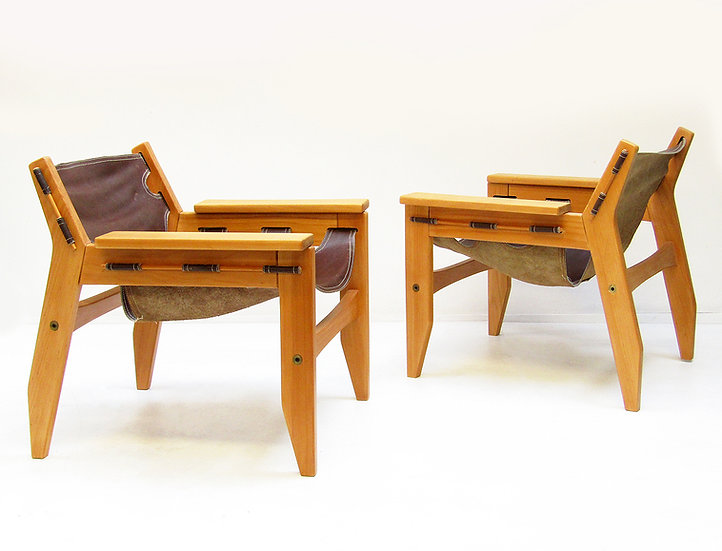 "Pair of 1970s ""Kilin"" Chairs By Sergio Rodrigues"