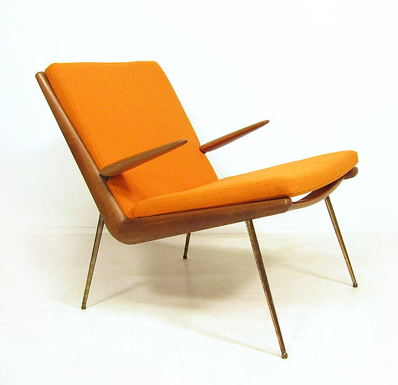 Danish Boomerang Chair By Peter Hvidt & Orla Molgaard